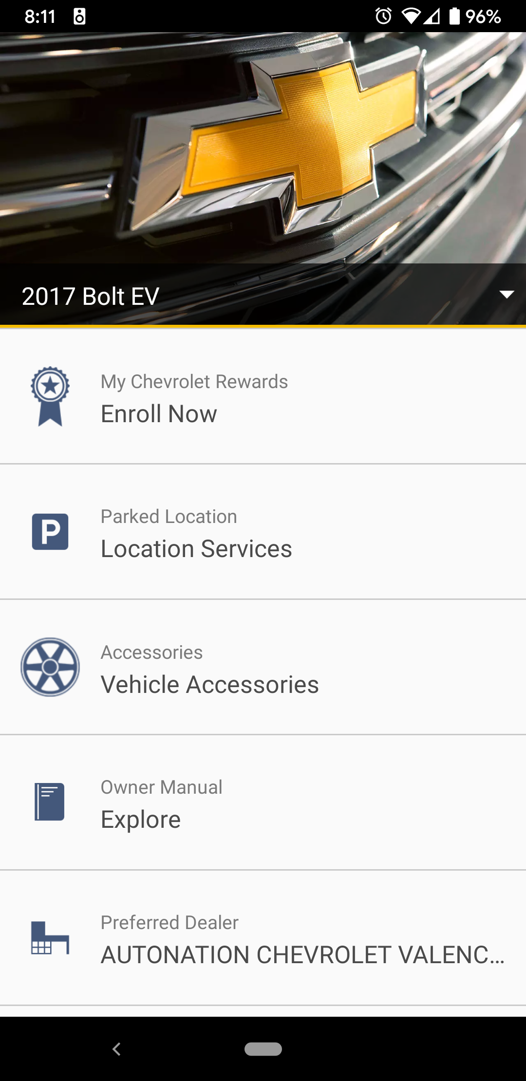 Mychevy App Doesn T Have Keypass Option Chevy Bolt Ev Forum